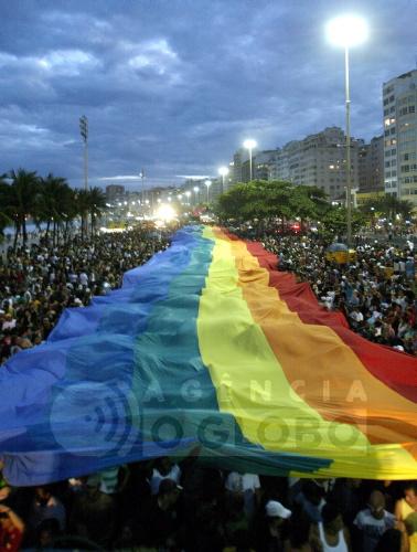 Parada Gay na Praia de Copacabana